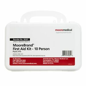 McKesson 10 Person Wall Mount Plastic Case First Aid Kit 1 Each