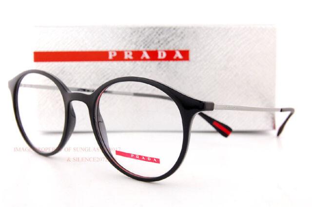 PRADA Sport Linea ROSSA Eyeglass Frames PS 02iv 1ab Black Men Women ...