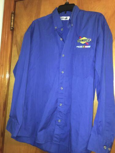 Cintas Sunoco vintage work shirt NASCAR long sleeve Size L