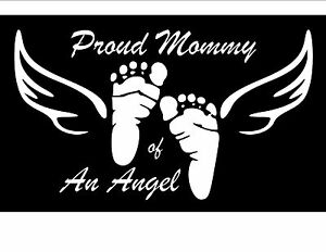 Proud Mommy Daddy Of An Angel Car Window Laptop Vinyl