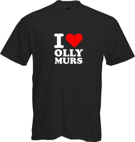 Quality T-shirt I Love Olly Murs heart