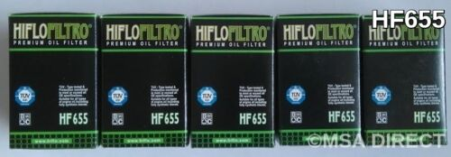 KTM EXC 450 / Six Days (2012 to 2016) HifloFiltro Oil Filter (HF655) x 5 Pack
