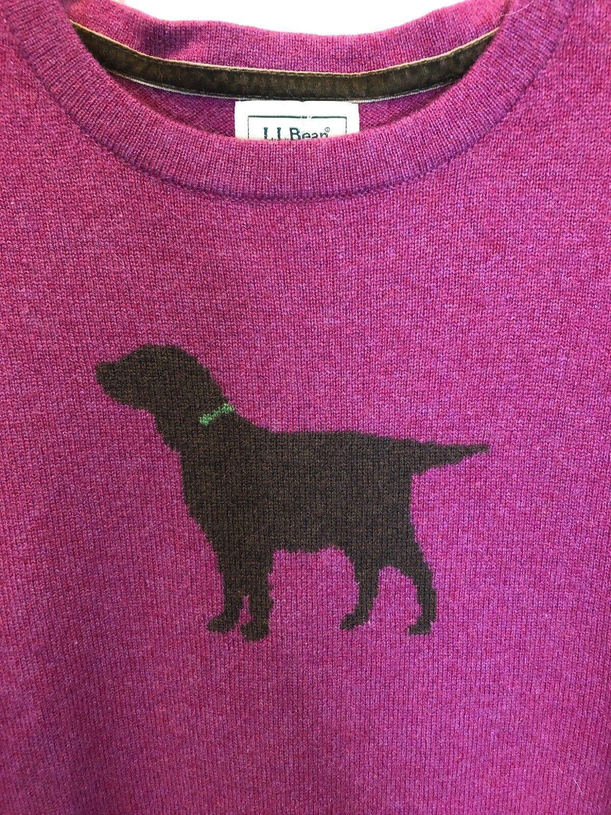 199. L L Bean Intarsia Dog Spaniel Cashmere Pull Flawless S