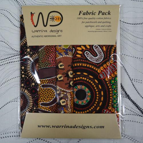 Aboriginal Fabric Packs// Fat Quarters//Quarter Metres Set of 4 fabrics