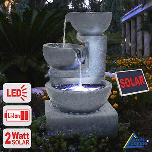 Brunnen Garten Solar Springbrunnen Solar Brunnen Kaskade
