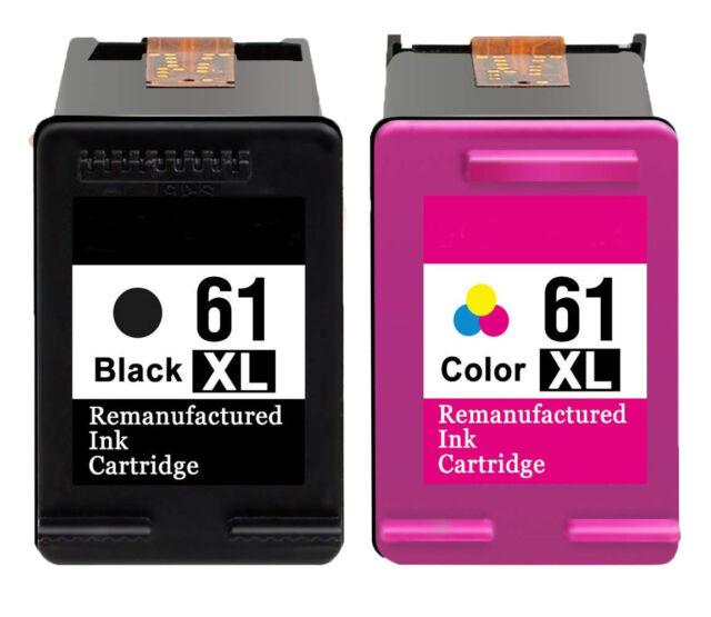2PK HP 61XL Black/ Tri-color Remanufactured Ink Cartridge Bundle