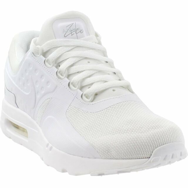 new concept 4d50a 092c9 Nike Air Max Zero Essential Triple White Wolf Grey 876070-100 Mens Running  Shoes 9