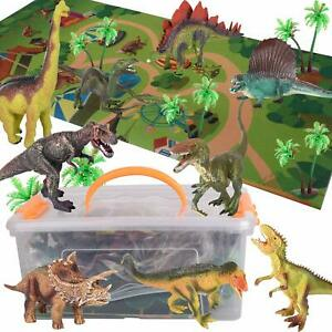 Playmat New Childrens Toys 12 Pcs  Dinosaurs Plastic Animals Tub Set T Rex