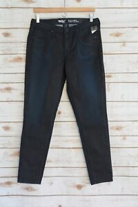 NWT-Mossimo-POWER-STRETCH-Dark-painted-wash-MID-RISE-denim-jeans-JEGGING-sz-8R