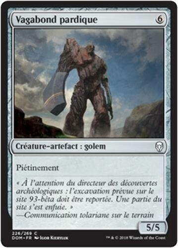 Pardic Wanderer//Vagabond pardique x4 MTG Magic DOM - French//VF