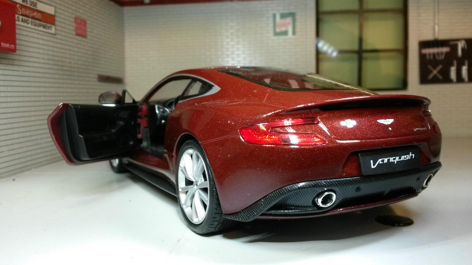 LGB 1 24 Scale Red Aston Martin Bond Vanquish 24046 24046 24046 V Detailed Welly Model Car 54e809