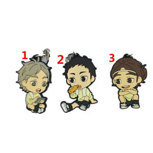 Anime haikyuu Rubber keychain Key Ring Race Straps cosplay