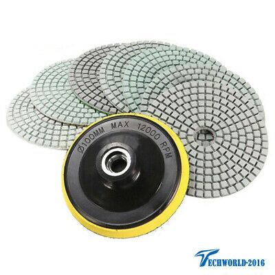 8Pcs 4 inch Wet//Dry Diamond Polishing Pads Set For Granite Stone Concrete Marble