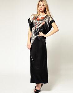 New-KAREN-MILLEN-Silk-BNWT-265-Kimono-Ltd-Edt-Long-Maxi-Evening-Ball-Gown-Dress