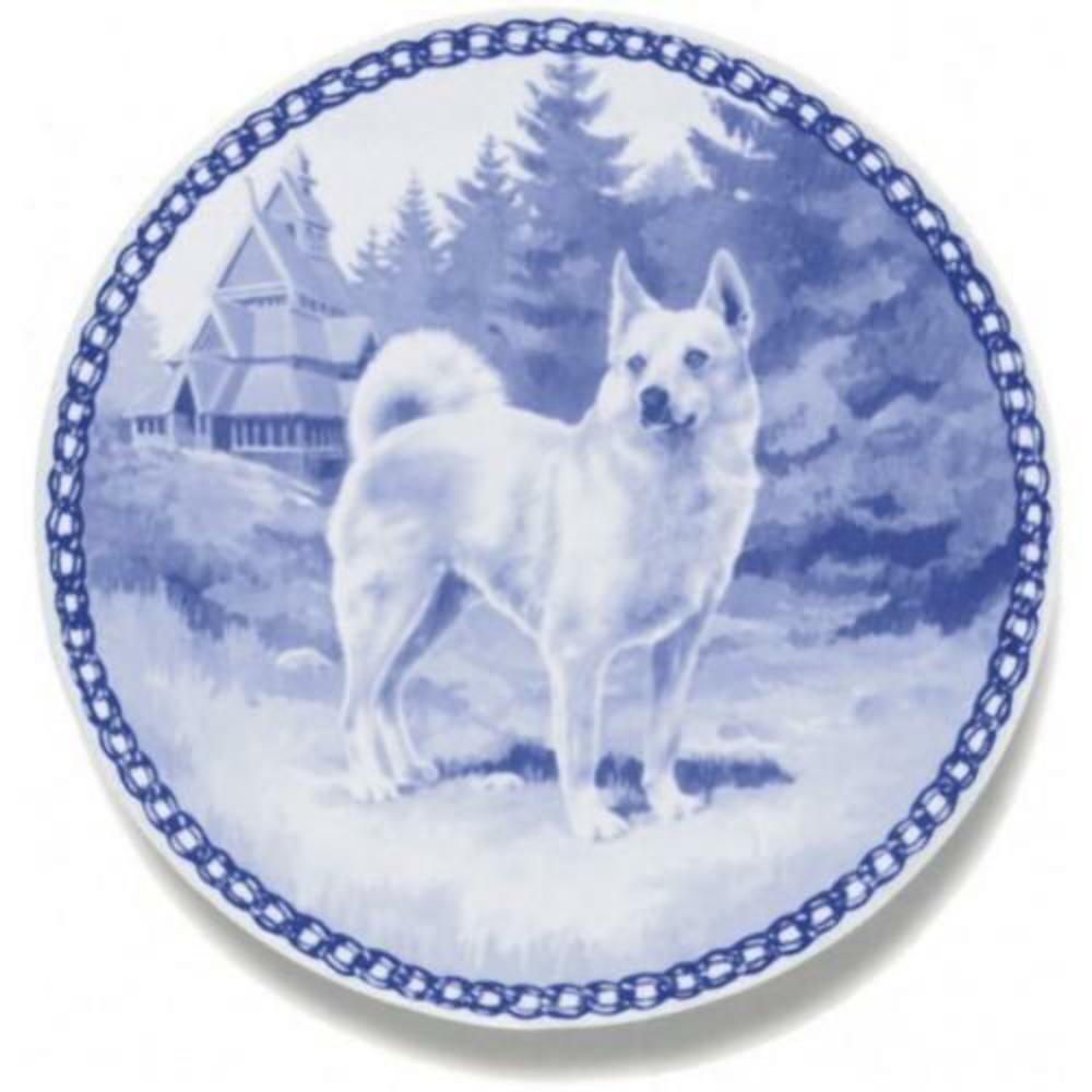 Norwegian Buhund  Dog Plate made in Denmark from the finest European Porcelain
