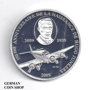 Togo-1000-Francs-CFA-2009-Flugzeug-JU-52-Hugo-Junkers-Republique-Togolaise