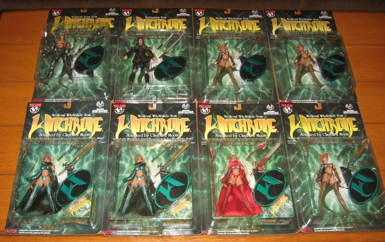 Witchblade Lot   8 Figures W/Medieval Witchblade-Japanese Exclusive+Scarlet++