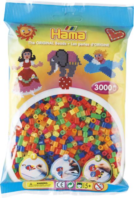 Kreativset-Bügelperlen für Kinder Hama Perlen Pastell gemischt 3.000stueck 1beutel günstig kaufen Bastel- & Kreativ-Bedarf für Kinder