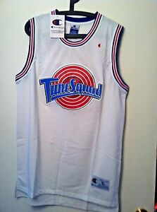 big sale d0acc fef2f Details about Youth Michael Jordan #23 Space Jam Tune Squad Basketball  Jersey White S M L XL