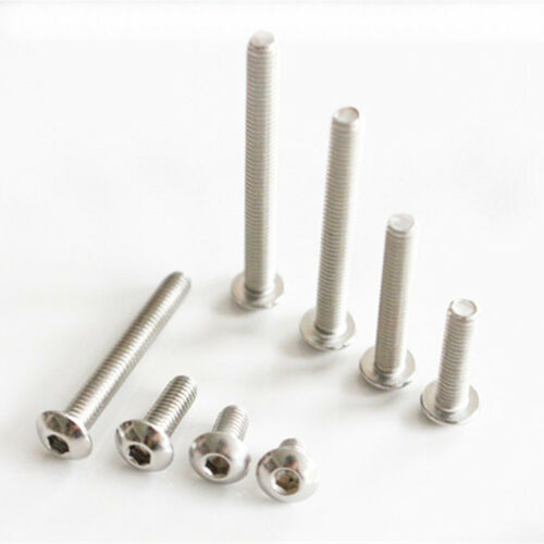 M6 M8 M10*8-80mm length 304 Stainless Steel Hex Socket Button Head Screw Bolt