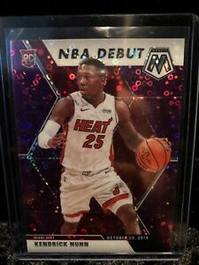 2019-20-Panini-Mosaic-Kendrick-Nunn-NBA-Debut-PURPLE-Disco-D-50-ROOKIE