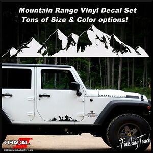 Mountain Range Decal Vinyl Graphics Rocky Nature Stickers