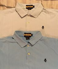 Pair Of Men's Ralph Lauren Rugby Short Sleeve Polo Shirts Size Large - Skull