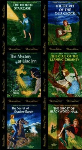 BLACK GET A CLUE WITH NANCY DREW FABRIC BLOCKS PANEL Moda Fabric Book Covers