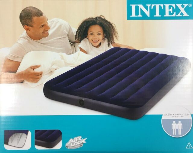 Intex Luftmatratze aufblasbar 191x99 cm Grau Camping Matratze Luftbett Gästebett