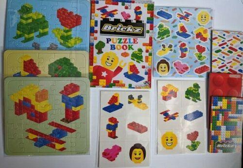 Brique Fête Sac Remplissage Jigsaw Autocollants Pads tatouages Puzzle livres brickz