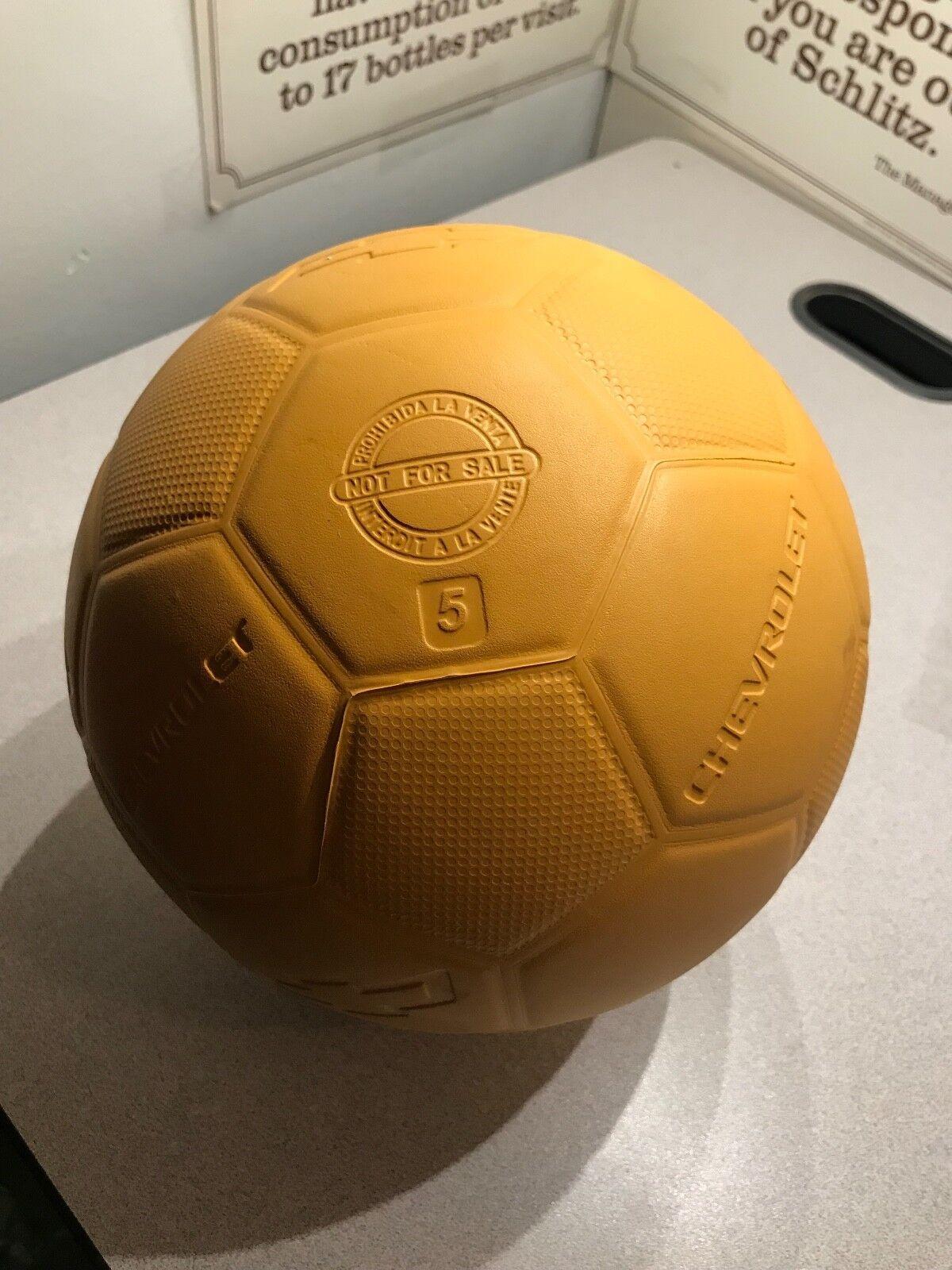 One World FUTBOL Project Soccer Ball, Size 5 Yellow   Chevrolet Promo Ball