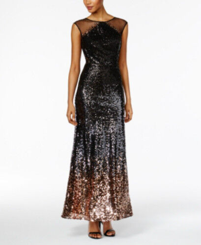 SLNY Fashions Sequined A-Line Gown Größe 0
