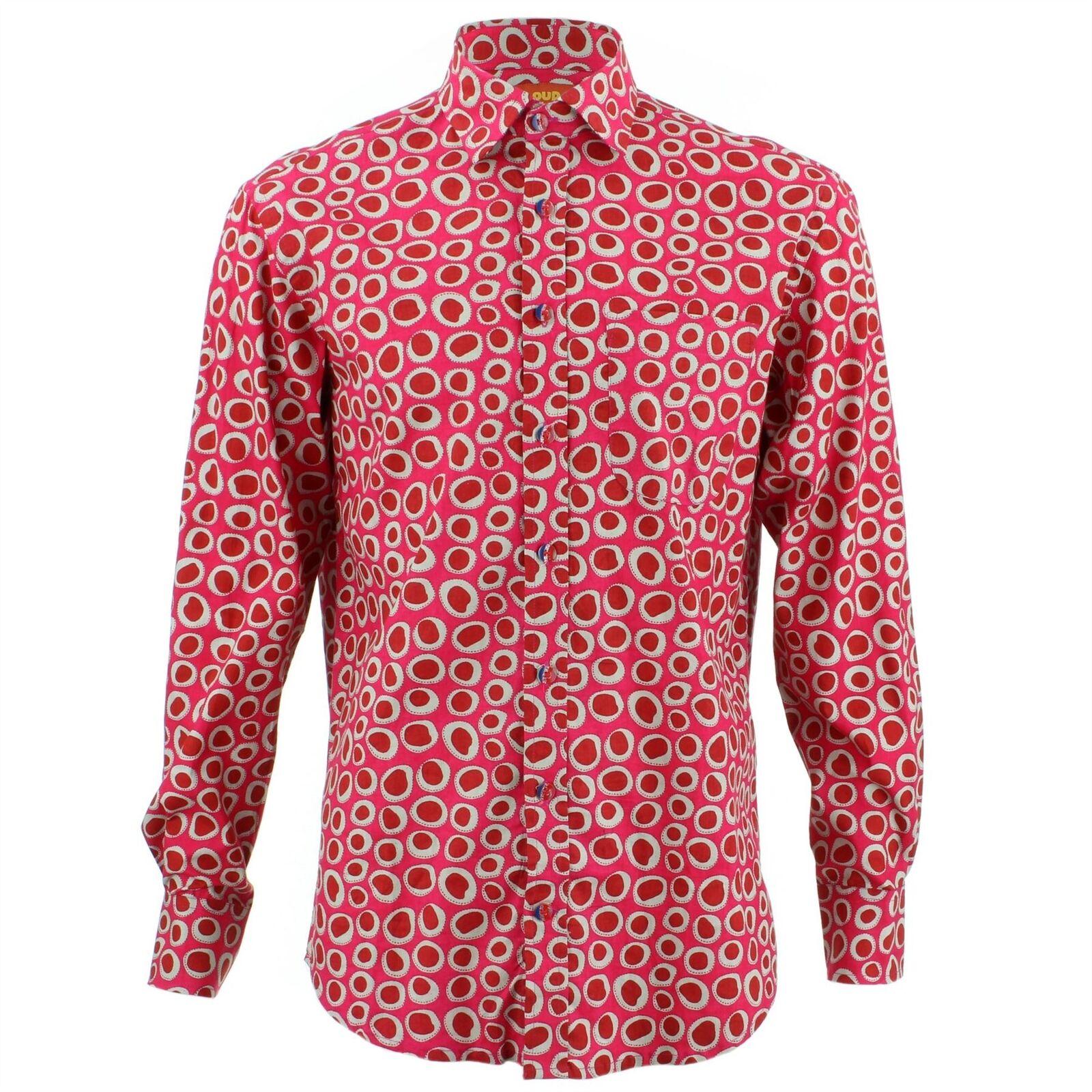 Uomo Uomo Uomo LOUD Camicia regular ELLISSI rosa rétro PSICHEDELICO STRAVAGANTE 63421d