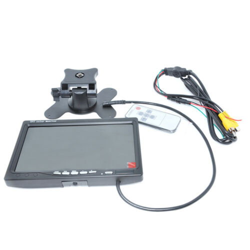 Car 7 inch Digital Color TFT 16:9 LCD Reverse Monitor with 2 Bracket holder