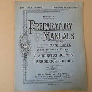 Karn Book 4 Carefully Selected Materials Iano Preparatory Manuals G J Augustus Holmes F