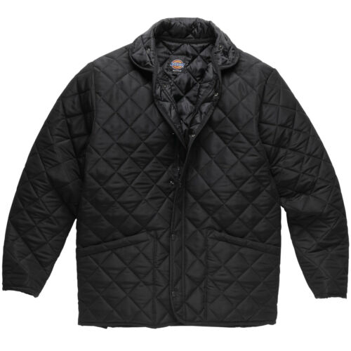 MENS DICKIES POLDEN QUILTED JACKET SIZE S XXL FARM COUNTRY BLACK JW7001