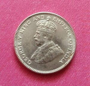 Straits-Settlements-10-Cents-Silver-Coin-1927-King-George-V-A-VERY-FINE-Coin