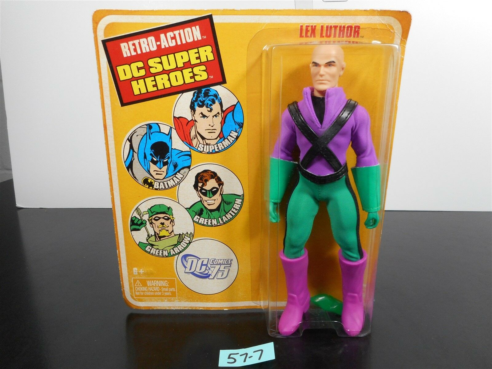 NEW & SEALED   RETRO-ACTION DC SUPER HEROES LEX LUTHOR DC COMICS 75 R5934   57-7