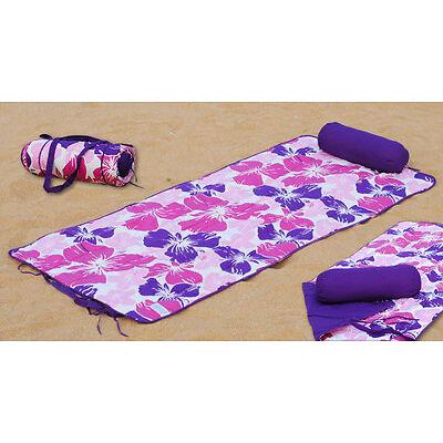 Beach Mat Set Beach Mat + Neck Roll Flower Better Replacement of Beach Towel