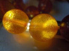 Alte Natur Bernstein Kette Honig große Kugeln 41,1 g/ 57,5 cm Genuine Amber