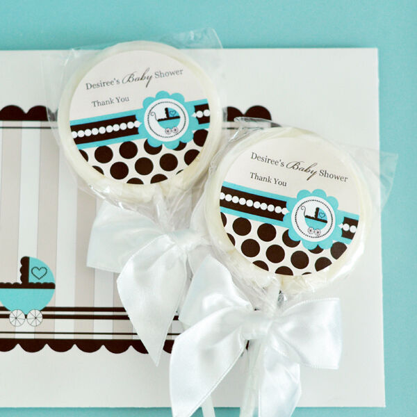 48 Blau Baby Theme Lollipops Personalized Lollipop Baby Shower Birthday Favors