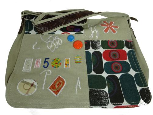 in tracolla Borsa Borsa A103 Textile Fleur Donna tessuto Messenger Colorful a tqAaxwS