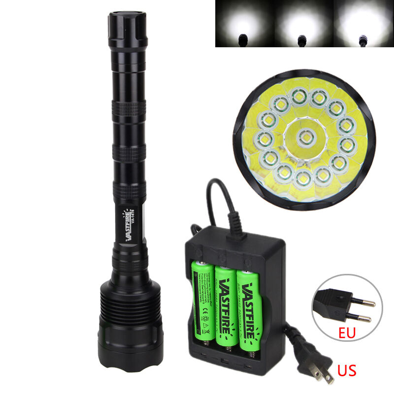 Military 40000lm 14x XM-T6  LED Powerful Flashlight Torch Hunting Light  3x18650  we take customers as our god