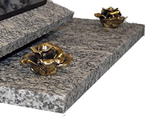 Granit Grabstein GRABPLATTE Grabmal Grabdeko ► inkl gg54s Gravur ◄ 60x40 cm