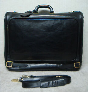 BALLY-Vintage-Luxury-Executive-Bifold-Garment-Bag-Black-Leather-Italy-Made