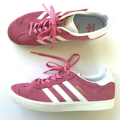 newest collection 6af34 0f7cf ADIDAS GAZELLE Hot PINK Suede Trainer Sneakers Ortholite Womens SIZE 6 EUC