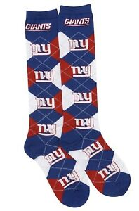f9d854e5 Details about New York Giants NFL For Bare Feet Argyle Women's Knee High  Socks SZ Med