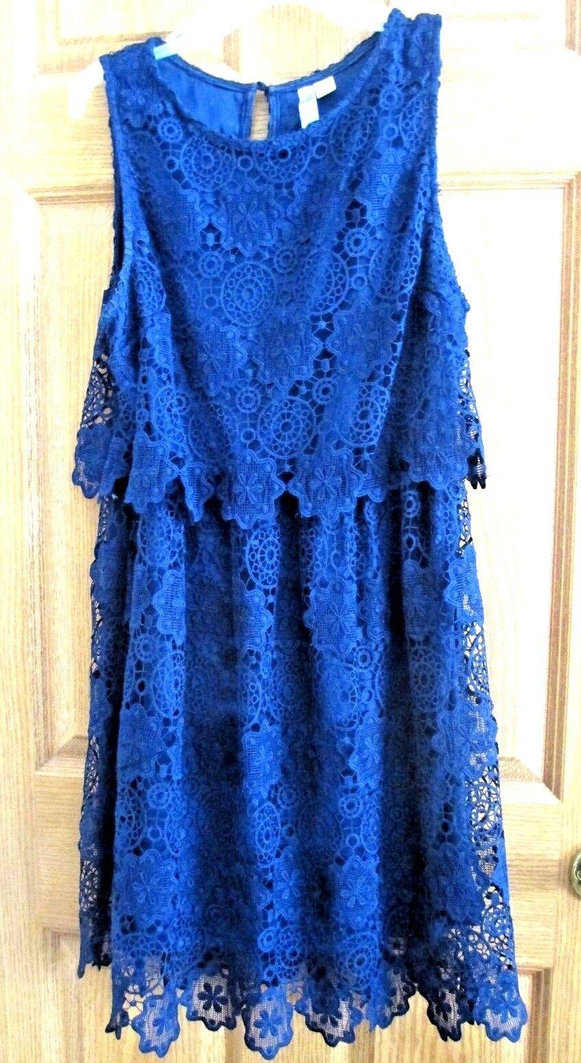 blueE LACE DRESS SIZE L(10) BY ALYA