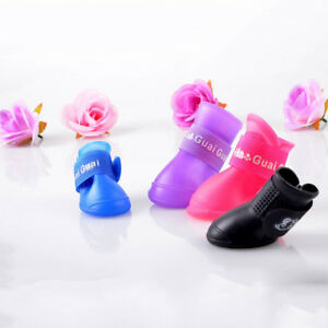 4-Pcs-WaterProof-Pet-Rain-Shoes-Boots-Socks-Anti-slip-Rubber-Boot-for-Small-Dog