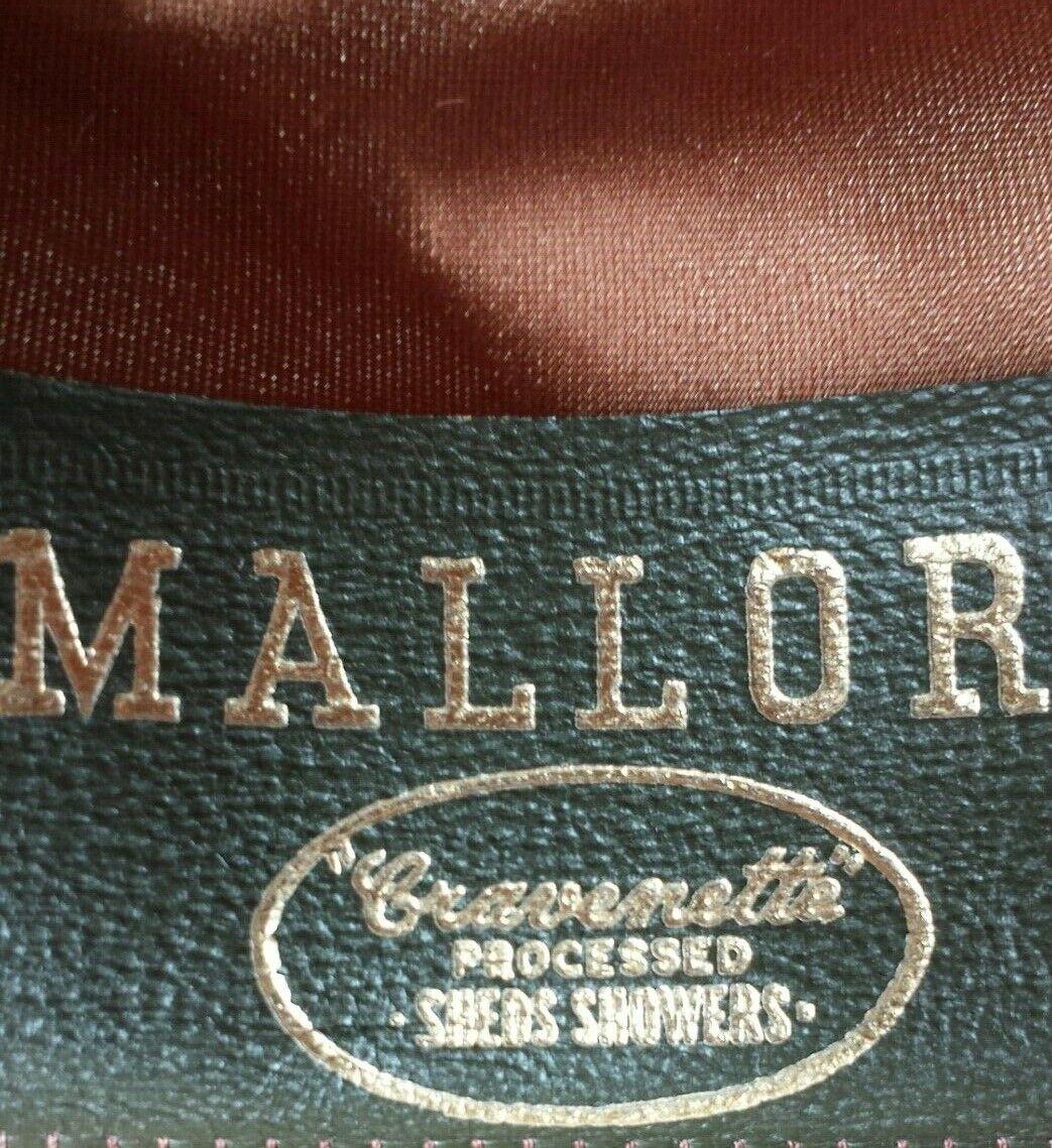 Vintage Mallory Pork Pie Style Felt Hat Size 7 1/8 - image 7